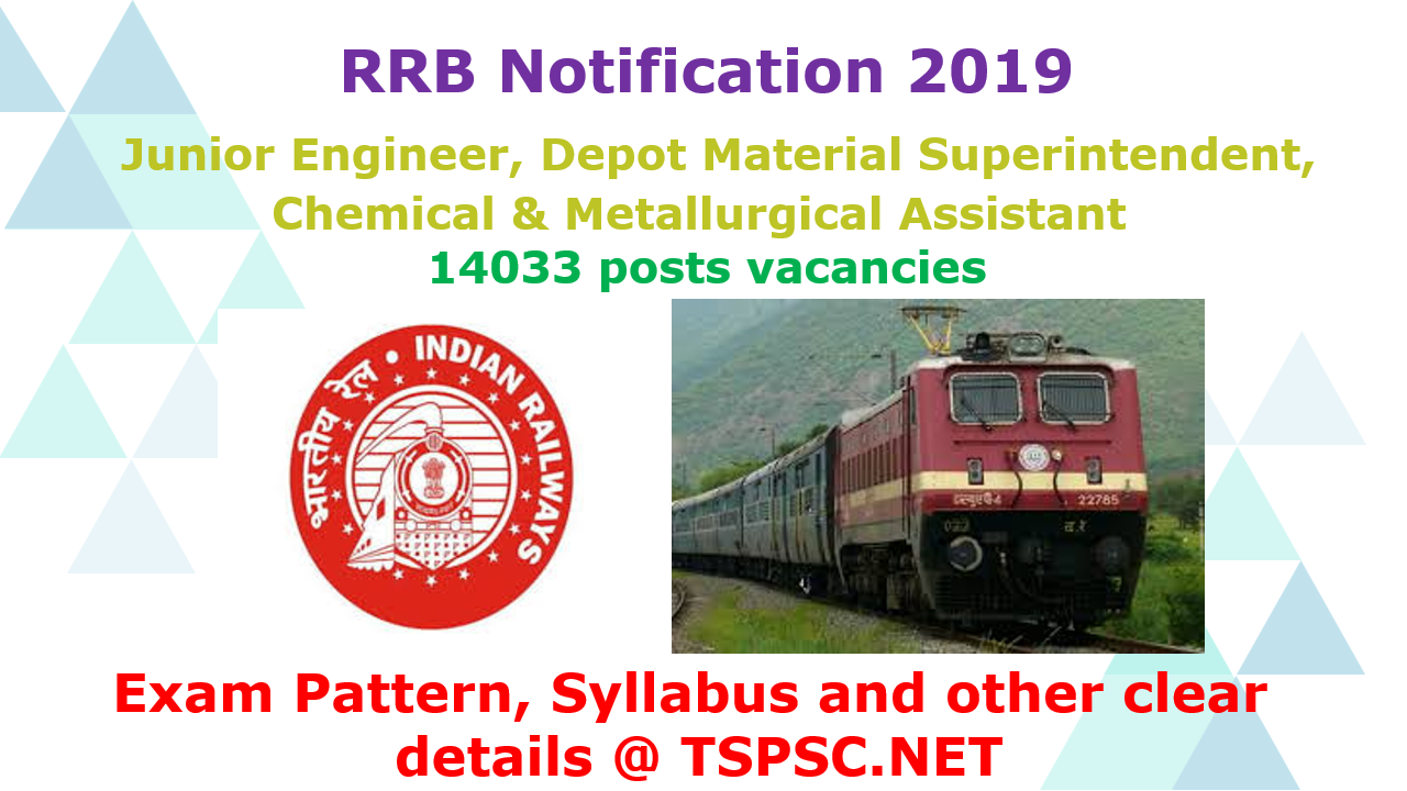 RRB 2019 recruitment JE DMS CMA Syllabus & Exam Pattern